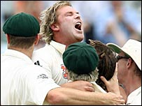 SK Warne in jubilant mood again