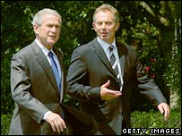 George Bush and Tony Blair. Image: Getty