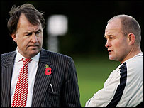 Francis Baron (left) with former England coach Andy Robinson
