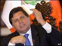 Peruvian President Alan Garcia