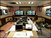 View of the refurbishment of the situation room