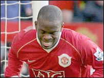 Man Utd striker Louis Saha
