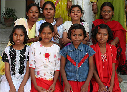 Dalit girls attending a special school in Nagpur