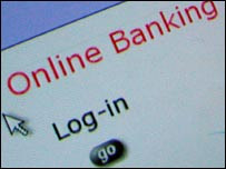 Online banking log-in page