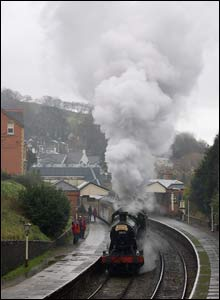 Mark Riley sent this picture of a steam locomotive leaving Llangollen
