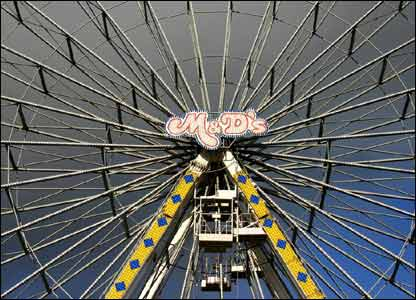 Jim Young shot this view of the ferris wheel in Swansea