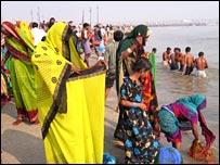 Bathers at Sangam