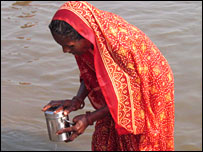 Woman at Sangam