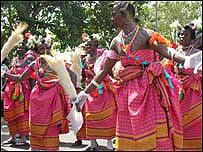 Colourful dancers, Nigeria