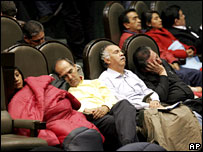 Opposition politicians sleep in Mexico's Congress chamber