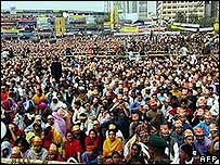 Rally by supporters of the Bangladesh Nationalist Party