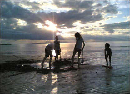 Children at Gullane Sands