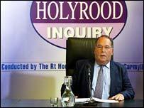 Lord Fraser at Holyrood