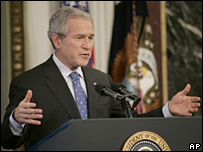 President George W Bush