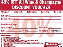 Thresher discount voucher