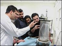 Students at the Iran university