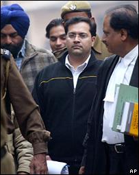 Manu Sharma after the sentencing outside Delhi High Court