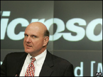Microsoft boss Steve Ballmer, AP