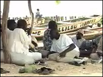 Male villagers and fishermen