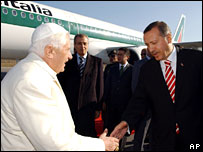 Pope Benedict XVI and Turkey's Prime Minister Recep Tayyip Erdogan