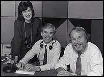 Jenni Murray, pictured in 1986 with John Humphrys and Brian Redhead