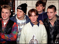 Take That pictured in their early days