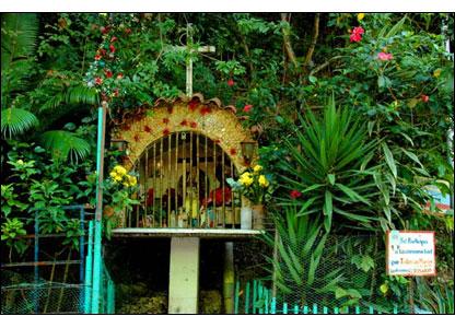 En el barrio se pueden encontrar se�ales de religiosidad cat�lica. Hay minicapillas, as� como altares de santa B�rbara y la Virgen de Coromoto, patrona de Venezuela.