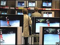 Screens in a shop