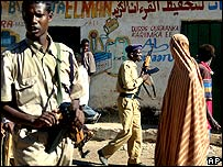 Government soldiers in Baidoa