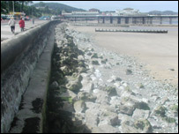 Colwyn Bay beach - Picture; Conwy County Council