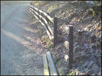 Part of the fence near the farmhouse