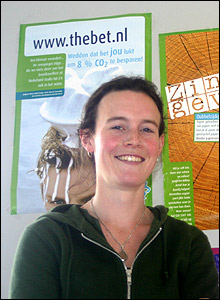 Grietje Holleman of Friends of the Earth Netherlands' youth wing, Jongeren Milieu Actief