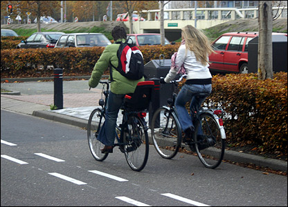 Cyclists in Almere