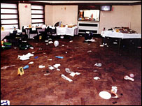 The aftermath of the fatal shooting at the christening party