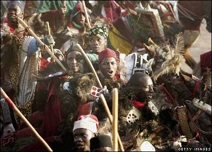 People participating in a durbar festival in Kano, northern Nigeria