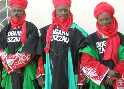 Personal bodyguards to the Emir of Zazzau in northern Nigeria