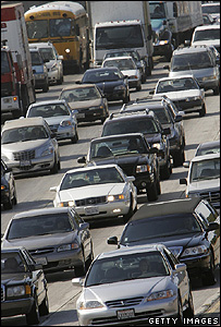 Cars on US freeway