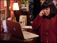 The vicar of Dibley goes online herself