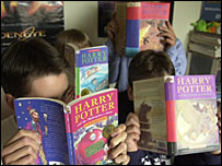 A selection of Harry Potter books