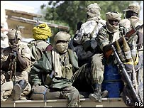 Chadian government soldiers
