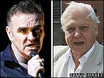 Morrissey and Sir David Attenborough