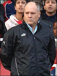 Spurs boss Martin Jol, not happy at their display against the Woolwich Pikeys
