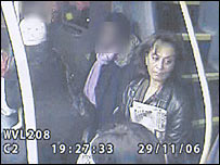 CCTV footage of Laila Rezk on the bus
