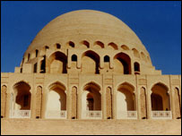 The restored mausoleum of Sultan Sanjar in Merv, Mary province