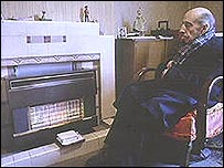 Man in front of fire (generic)
