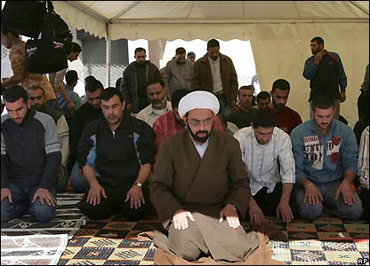 Prayers at the protest camp