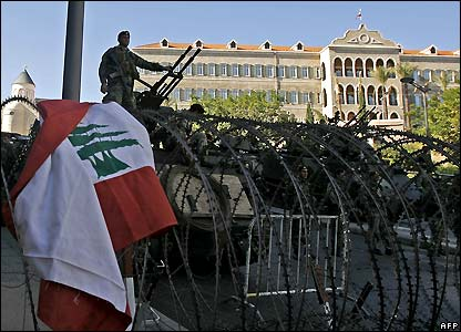 Lebanese army in central Beirut