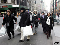 Shoppers in New York city
