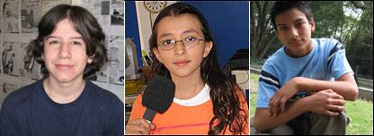 De izq. a der.: Joaqu�n,14; Carolina, 11; �ngel, 13.