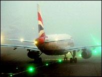 BA plane at Heathrow airport